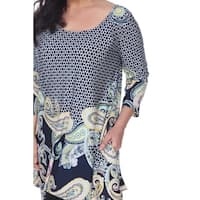 White Mark Women's Plus Size Teagan Tunic
