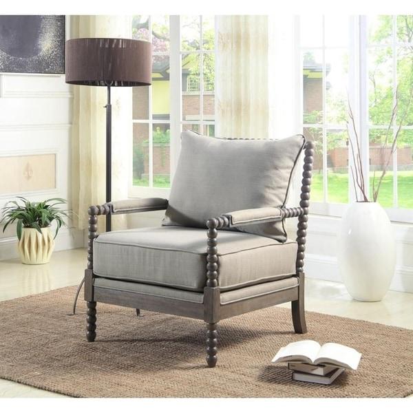 Shop Best Master Furniture Weathered Oak Sleigh: Shop Best Master Furniture Wood And Taupe Fabric Accent