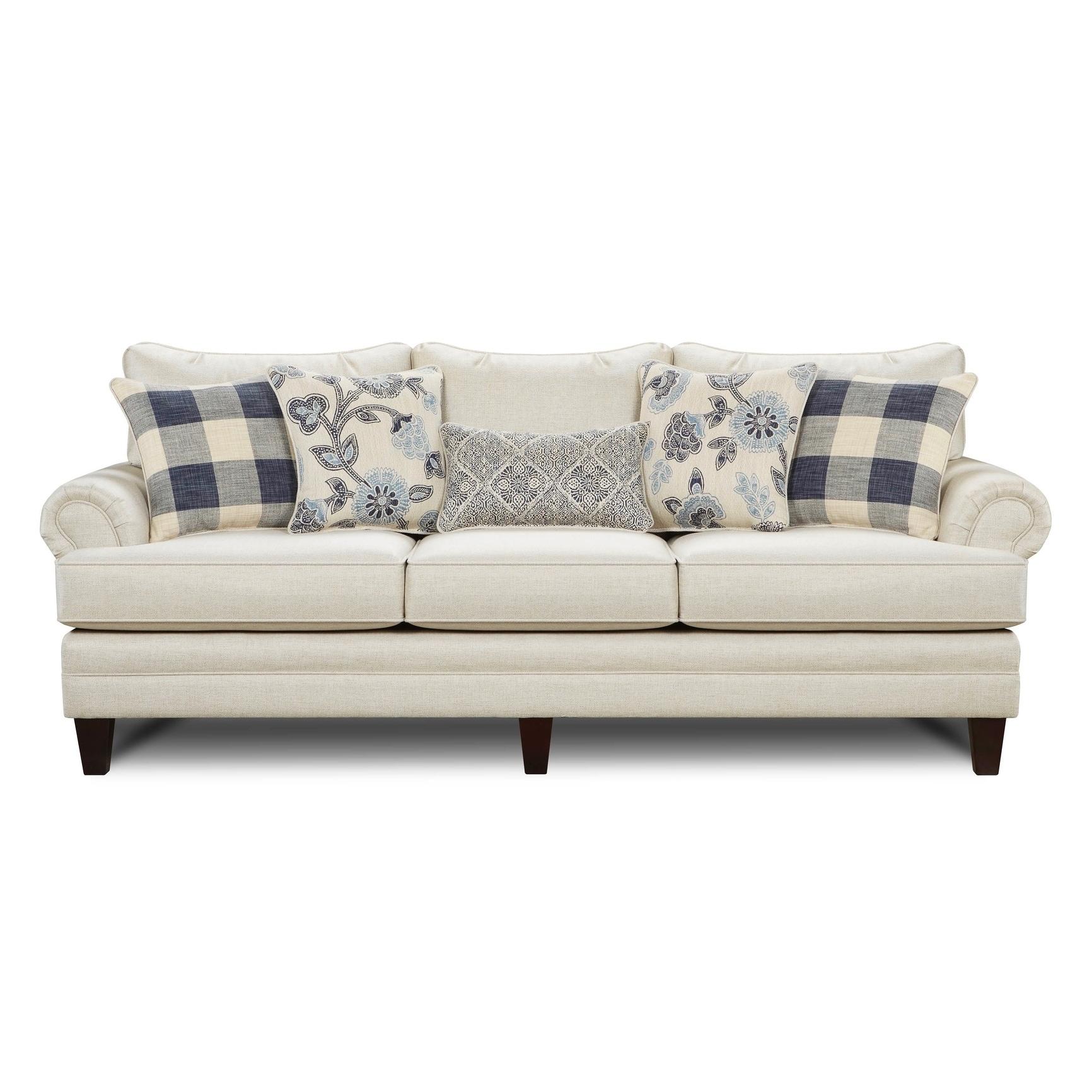 Catalina White Linen Sofa