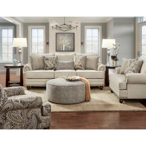 Carys Doe Off-white Polyester Sofa