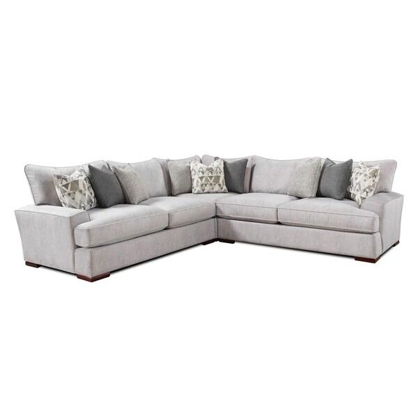 Shop Alton Silver Sectional Sofa Free Shipping Today