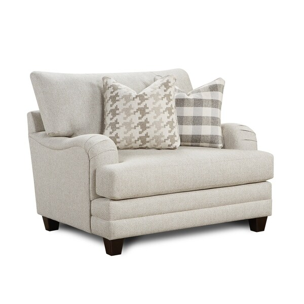 Shop Basic Off-White Wool Chair And A Half
