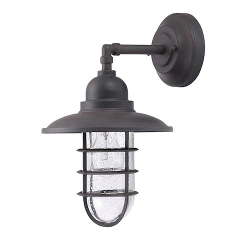 Eglo USA Shipman 1-Light Outdoor Wall Light with Gun Metal Finish