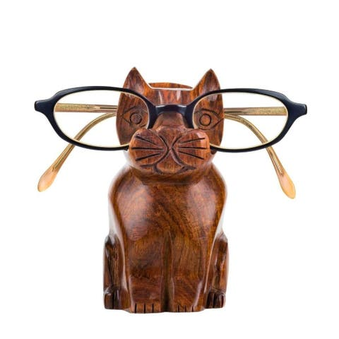 Handmade Cat Eyeglass Holder (India) - M