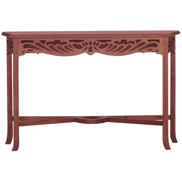 Fine Handcrafted Solid Mahogany Wood Bordeaux End Table