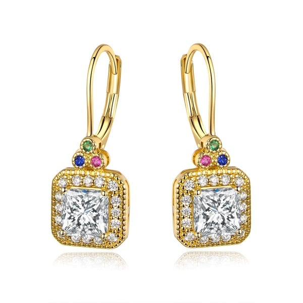 6cedd2d8d Shop Gold Plated Swarovski Crystal Hoop Earrings - On Sale - Free Shipping  On Orders Over $45 - Overstock - 24183899