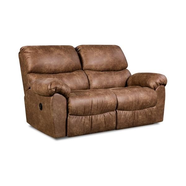 Laredo Sofa And Loveseat: Shop Laredo Faux Leather Rocker Recliner Loveseat (Manual