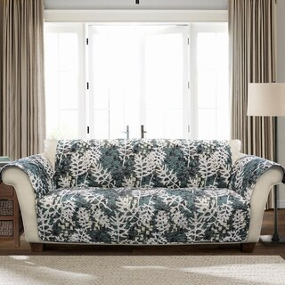 Lush Decor Camouflage Leaves Sofa Furniture Protector