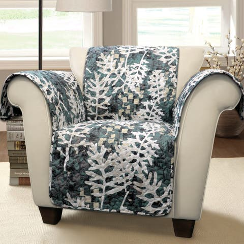 Lush Decor Camouflage Leaves Arm Chair Furniture Protector