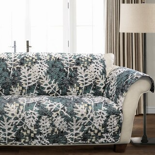 Lush Decor Camouflage Leaves Love Seat Furniture Protector - loveseat