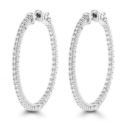 978360ab8a562 Buy Hoop, 1 to 1.5 Carats Diamond Earrings Online at Overstock | Our ...