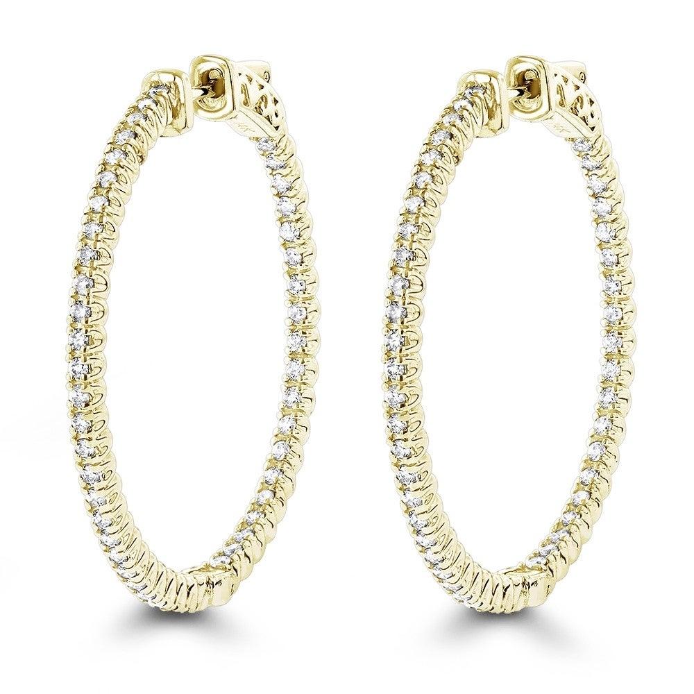 """1.5/""""inch 10k yellow gold journey dangling earrings"""