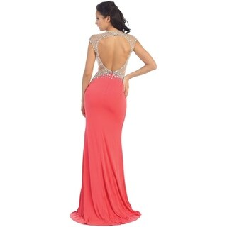 Sexy Exposed Back Evening Gown