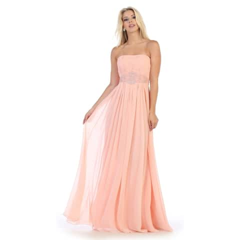 076ae6c8377 Simple Yet Beautiful Long Bridesmaids Dresses   Plus Size