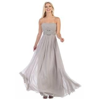 Buy Silver Evening & Formal Dresses Online at Overstock ...
