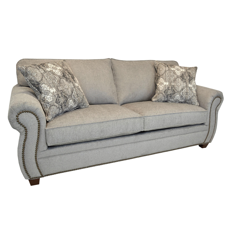 Gia Light Grey Fabric Sofa