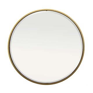 "Three Hands 36 "" Wall Mirror - Gold - WHITE - A"