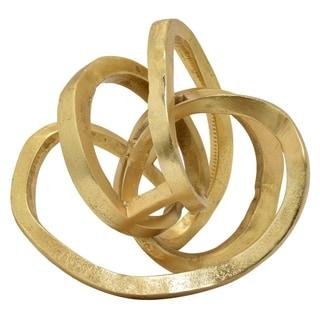 Three Hands Aluminum Sculpture  - Gold