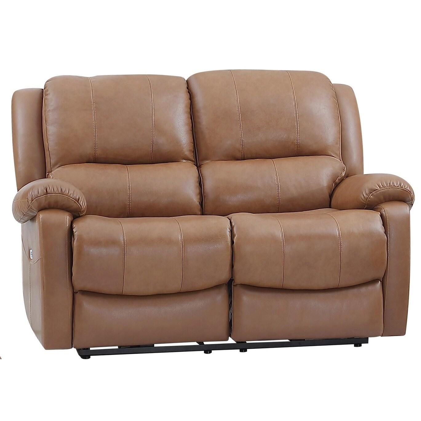 Astounding Mervin Top Grain Leather Power Reclining Loveseat Short Links Chair Design For Home Short Linksinfo