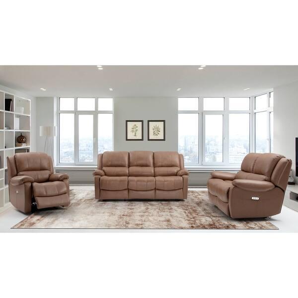 Awe Inspiring Mervin Top Grain Leather Power Reclining Loveseat Short Links Chair Design For Home Short Linksinfo
