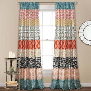 The Curated Nomad La Boheme Striped Window Curtain Panel Pair
