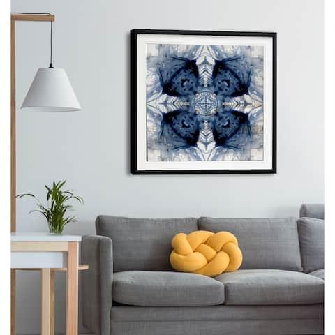 Indigo Kaleidoscope IV -Framed Giclee Print