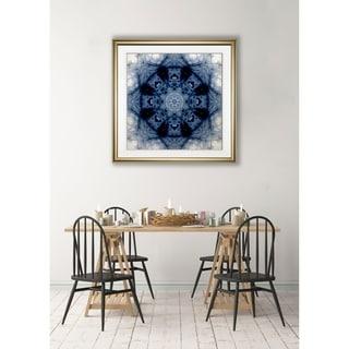Indigo Kaleidoscope II -Framed Giclee Print