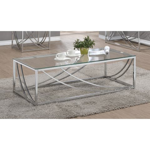 Silver Orchid Brockwell Contemporary Chrome Coffee Table