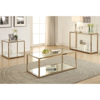 Silver Orchid Hartau Modern Chocolate Chrome Finish Coffee Table