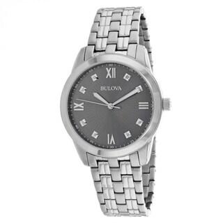 Bulova Men's 96D132 'Classic' Diamond Stainless Steel Watch