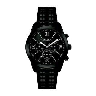 Bulova Men's 98A164 'Classic' Chronograph Black Stainless Steel Watch