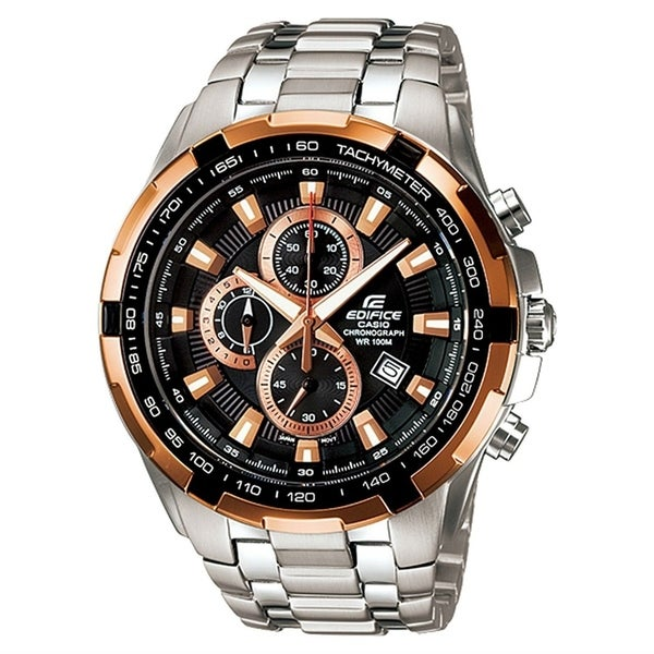 e0349a16a Shop Casio Men's EF539D-1A5 'Edifice' Chronograph Stainless Steel Watch -  Free Shipping Today - Overstock - 24185829