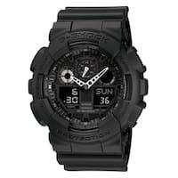 Casio Men's GA100BT-1A 'G-Shock' Chronograph Black Resin Watch