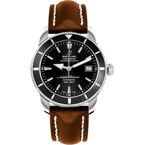 Breitling Men's A1732124-BA61-437X 'Superocean Heritage 42' Automatic Brown Leather Watch