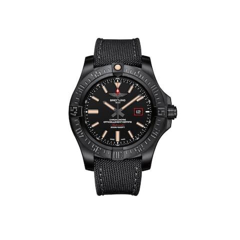 Breitling Men's V1731110-BD74-109W 'Avenger Blackbird 44' Automatic Black Canvas Watch