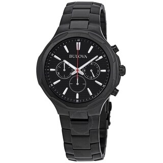 Bulova Men's 98A189 'Classic' Chronograph Black Stainless Steel Watch