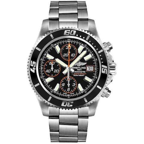 Breitling Men's A1334102-BA85-134A 'Superocean II 44' Chronograph Automatic Stainless Steel Watch