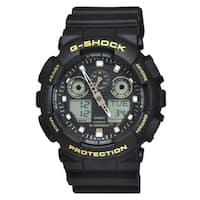 Casio Men's GA100GBX-1A9 'G-Shock' Chronograph Black Resin Watch