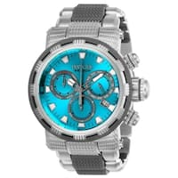 Invicta Men's 23990 'Specialty' Gunmetal and Silver Polyurethane and Stainless Steel Watch