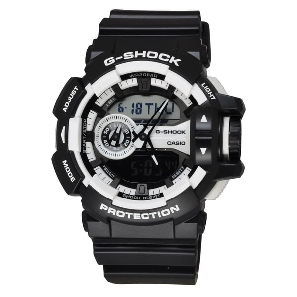 8bfba8e53 Shop Casio Men's GA400-1A 'G-Shock' Chronograph Black Resin Watch - Free  Shipping Today - Overstock - 24185877