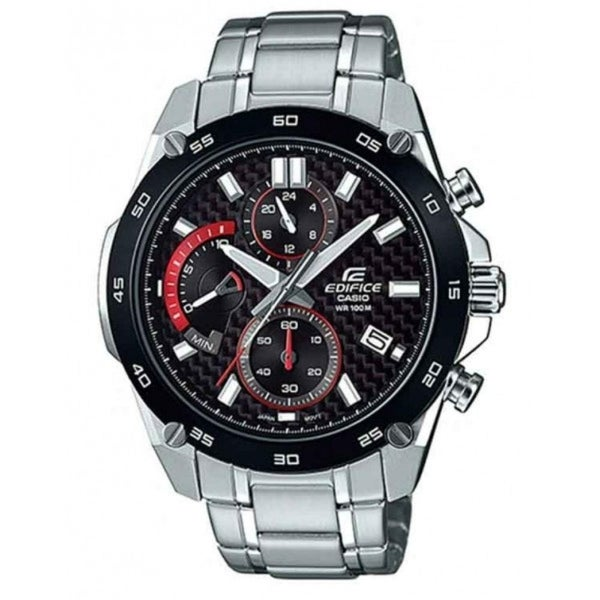 cf80b0828 Shop Casio Men's EFR557CDB-1A 'Edifice' Chronograph Stainless Steel Watch -  Free Shipping Today - Overstock - 24185880