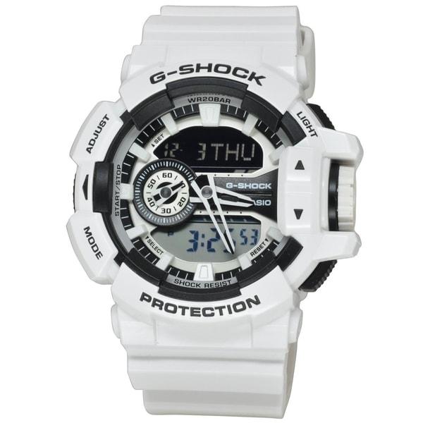f4143bfee Shop Casio Men's GA400-7A 'G-Shock' Chronograph White Silicone Watch ...