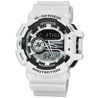 Casio Men's GA400-7A 'G-Shock' Chronograph White Silicone Watch