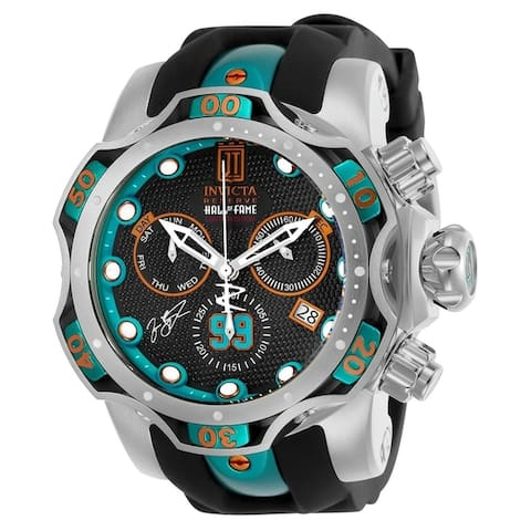Invicta Men's 25305 'Jason Taylor' Excursion Black Stainless Steel Watch
