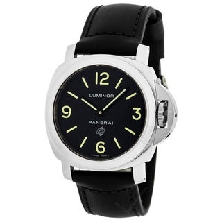 Panerai Men's PAM01000 'Luminor' Automatic Black Leather Watch