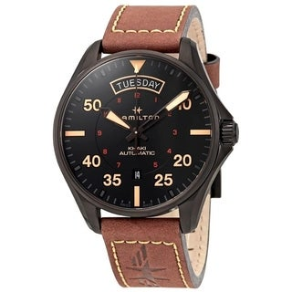 Link to Hamilton Men's H64605531 'Khaki Pilot' Automatic Brown Leather Watch Similar Items in Men's Watches