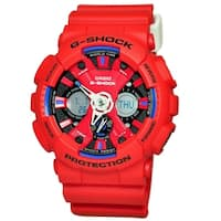Casio Men's GA120TR-4A 'G-Shock' Chronograph Red Resin Watch