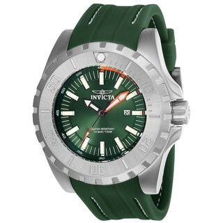 Invicta Men's 23738 'Pro Diver' Green Polyurethane Watch
