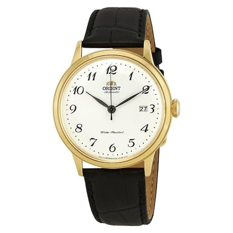 Orient Men's RA-AC0002S 'Classic' Automatic Black Leather Watch