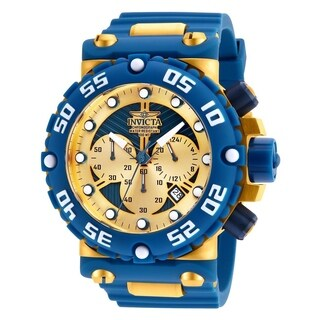 Invicta Men's 25041 'Subaqua' Blue and Gold-Tone Stainless Steel Watch